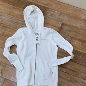 Converse white knit hoodie